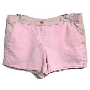 Gap Color Block Linen Blend Shorts Pink Size 8
